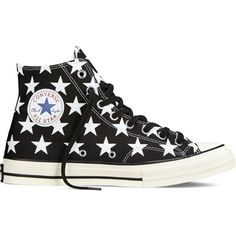 Converse Chuck Taylor All Star ˜70 Big Star Print – black Sneakers ($55) ❤ liked on Polyvore featuring shoes, sneakers, converse, black, zapatillas, black shoes, converse sneakers, kohl shoes, converse footwear and star shoes