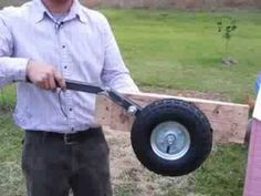 wheel assembly chicken coop wheels .com - YouTube