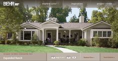 Ranch House Exterior Paint Colors | second, we have a more girly choice which includes a GREY very similar ...