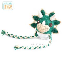 Triceratops dino hat crochet project by Ira Rott
