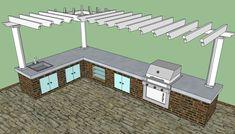 Outdoor kitchen pergola design