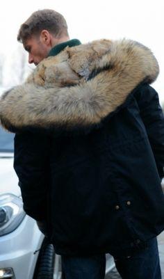 adidas Originals Quilted Fur Parka Herren Jacke olive