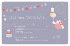 carte d'invitation anniversaire fille 10 ans à imprimer - Invitations de Cartes