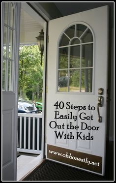 40 Steps to Easily Get Out the Door With Kids- Oh, Honestly!