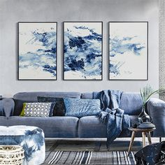 Imagine you Original Price US $11.65 Sale Price US $6.99 Black Blue Series Watercolor Abstract Canvas Mural Poster No Frame Chinese Style Nordic Art Wall Paper for Living Room Corridor like an expert. follow these steps to get there #Painting#Calligraphy