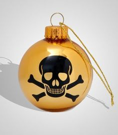 Toxiferous Designs: Skull Christmas Ornaments