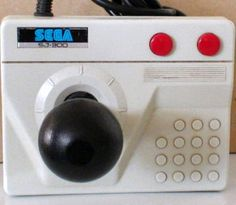 Sega SJ-300 :-: Created as a upgrade controller to the default SJ-200 that came with the SG-1000 console, this controller is solid with a good sized base. What is interesting about this joystick is that the fire buttons are on the right hand side of the stick...which is ideal if you are left handed, but very difficult for a right handed player. This design was very atypical of joystick controllers on the age. [Photo credit: @ausretrogamer]