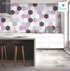 Hexagon Tiles, New Kitchen, Your Space, Office Desk, Corner Desk, Vanity, Mirror, Sugar, Ceramics