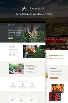 WordPress Template , Farmelio - Farm Responsive