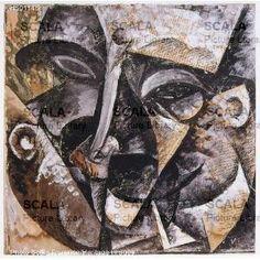 Boccioni, Dinamismo di una testa d'uomo, 1918