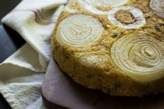 Upside Down Sweet Onion Cornbread - how to adapt if don't have a cast iron pan?  Find recipe for homemade corn bread mix.