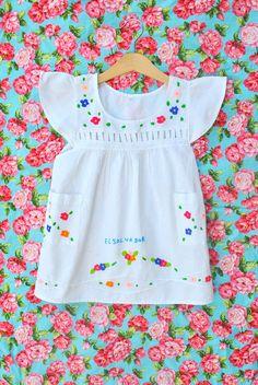 Vintage 'El Salvador' Toddler Dress from Kees & Me - http://www.facebook.com/keesandme