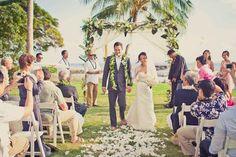 Maui Wedding Venue: Olowalu Plantation. Click for more ivory and pink inspiration http://modernweddingshawaii.com/real-wedding-helen-zach/