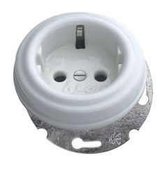 Enchufe base de porcelana empotrable #porcelana #interruptores #rustico #iluminable #decoracion #interiorismo