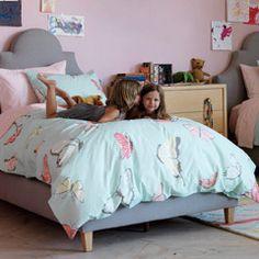 DwellStudio Kids Bedding Butterflies Robins Egg Duvet Set