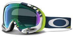 Oakley A-Frame Smoke Rings Ski Goggles, Lime/Jade Irid Snowboarding, Skiing, Smoke Rings, Ski Goggles, Elegant, Oakley Sunglasses, Frame, Scale Model, Snow Board