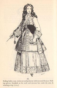 Early 1700's Women's Fashion.