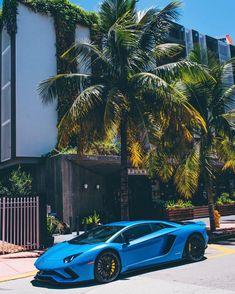 Lamborghini Aventador S painted in Blu Ely  Photo taken by: @aatlas on Instagram   Owned by: @krl.1 on Instagram