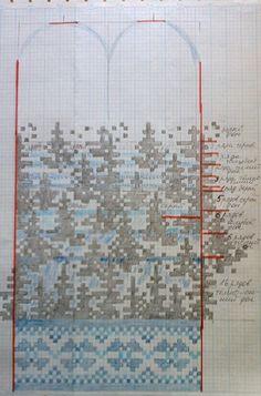 Knitted Mittens Pattern, Knit Mittens, Knitting Charts, Knitting Patterns, Creative Class, Fair Isle Knitting, Mosaic Patterns, Cross Stitch, Sewing