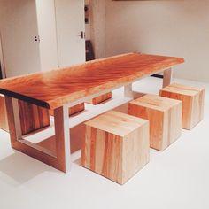 一枚板マカバ「最高の1品」  #一枚板#家具#木馬#ダイニングテーブル#テーブル#関家具#インテリア#木材#チェアー#マカバ#内装#カウンター#mokuba#ateliermokuba #ATELIERMOKUBA#furniture#woodslab#wood#liveedge#新築#青山#南青山#インテリアコーディネート#アトリエ木馬