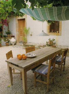 dining al fresco. dining al fresco. Outdoor Furniture Sets, Outdoor Rooms, Decor, Home, Outdoor Design, Outdoor Dining, Outdoor Spaces, Rustic Dining Table, Home Decor