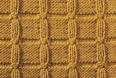 Tiles II - Knitting Pattern Stitch (knit and purl) - Written instructions and chart. Knit Purl Stitches, Knitting Stiches, Easy Knitting, Knitting Designs, Knitting Patterns, Crochet Butterfly Pattern, Rainbow Crochet, Crochet Dishcloths, How To Purl Knit