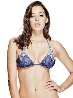4e3adb3ba1 Denim and Lace Triangle Bikini Top at Guess. Guess GirlDenim And LaceBikini  TopsSwimwearBikinisTriangle ...