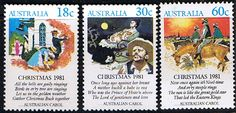 Australia 1981 Christmas. Scenes and Verses Set Fine Mint SG 828/30 Scott 811/3 Other Australian Stamps HERE