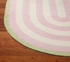 Capel Spiral Oval Rug 3x5' Light Pink and Green