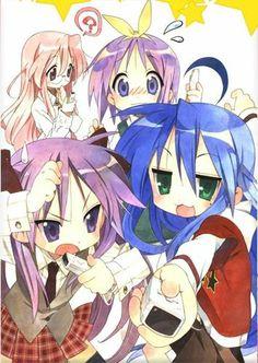 Lucky Star - Konata, Kagami, Tsukasa, and Miyuki