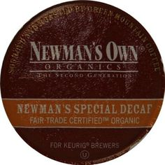 Newman& Own Organic Special Blend Decaf, K-Cup Portion Pack for Keurig K-Cup Brewers -- A special product just for you. : K Cups Coffee Effects, Green Mountain Coffee, Best Coffee, Coffee Coffee, Coffee Roasting, Coffee Machine, Keurig, Organic Recipes