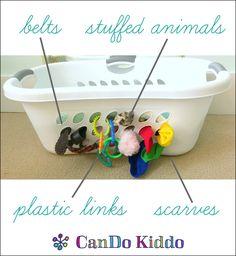 Ridiculously simple and free DIY baby sensory activity board. CanDoKiddo.com