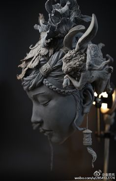 Sculptures épiques de Yuanxing Liang -Blog Graphiste / Sculptures, photos, Ver & Vie….