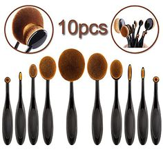 Gospire Professional Makeup Brushes Set Cosmetics Tool Foundation Oval Concealer Powder Brushes Rose Golden Soft 10pcs * Want additional info? Click on the image.
