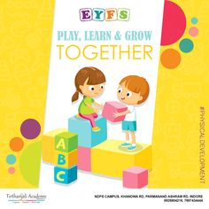 Playing together is an efficient way to provide learning to children. It helps in the growth of their brains and assists in building character as well. Eyfs Curriculum, Physical Development, Grow Together, Indore, Preschool, Play, Learning, Children, Building