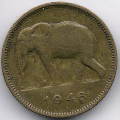 Belgian Congo 2 Francs 1946 Veiling in de Kongo,Afrika,Munten,Munten & Banknota's Categorie op eBid België