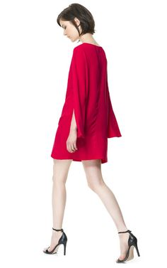 DRESS WITH CAPE SLEEVE - Dresses - Woman | ZARA United States