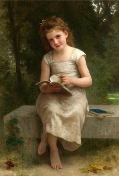 La Liseuse oil painting by William-Adolphe Bouguereau, The highest quality oil painting reproductions and great customer service! William Adolphe Bouguereau, Woman Reading, Kids Reading, Reading Books, John William Waterhouse, Jean Leon, Pre Raphaelite, Beautiful Paintings, Oeuvre D'art