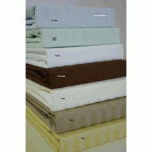 T800 Queen Size Sateen Stripe Sheet Set 100% Egyptian Cotton