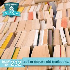 Sell or donate old textbooks.