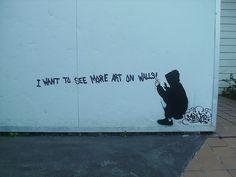 more art on walls by Misphit Melburn, via Flickr
