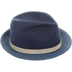 9448e45b22e Pre-owned Me Kim x Michael Bastian Leather-Trimmed Fedora Hat ( 60) ❤ liked  on Polyvore featuring men s fashion