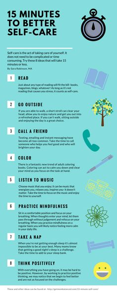 8 awesome ideas for quick self-care -- perfect for busy moms! Save this infographic and share it with your mom-friends to show you care.