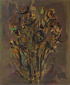 Ennio Morlotti - Fiori, 1961, oil on canvas