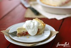 Rhubarb Cheesecake Pie -  - more at: http://pinned-recipes.net