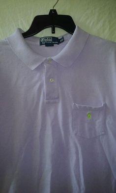 Polo by Ralph Lauren Lavender Polo Golf Rugby Shirt Size 2X/ XXL #PoloRalphLaurenGolfPoloShirtSize2X