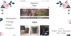 Nahomi  Is a minimalist theme, perfect for a creative person, if you like the handmade nahomi is perfect to expose all your products, such as your post that inspire your readers. Totally responsive...
