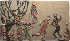 Violeta Parra, Arazzo Textiles, Aboriginal Art, Textile Art, Hand Embroidery, Stitch, Crafts, Painting, Inspiration, Museum