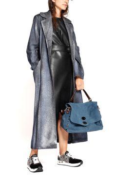 Blue Postina bag in calf leather from Zanellato