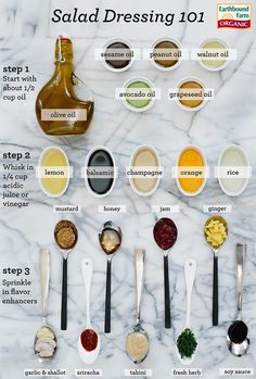 homemade salad dressing.